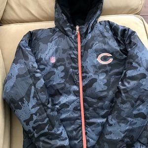 Chicago Bears reversible coat Boys Sz 10/12 worn2x